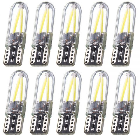 10pcs Car LED 12V Canbus White Light