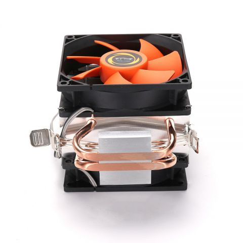 Double CPU Cooler Fan Double Copper Tube Strong Geat Dissipation